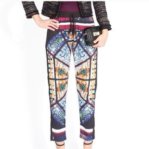 Clover Canyon stain glass design joggers pants: XS